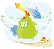 Сartoon birds Royalty Free Stock Image