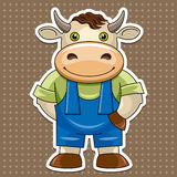 Сartoon cute bull Royalty Free Stock Photography