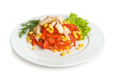 Сayenne salad Royalty Free Stock Image