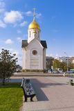 Сenter of Russia - Nicholas chapel in Novosibirsk Stock Images