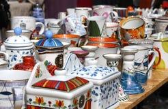 Сeramic ware for sale Royalty Free Stock Photo