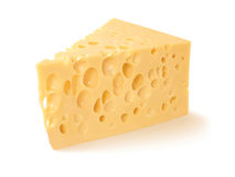 Ð¡heese on white background Stock Photos