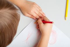 Ð¡hild draws Stock Images