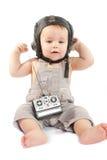 Ð¡hild in a helmet of the tankman. Child in a helmet of the tankman stock photography