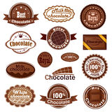 Сhocolate badges and labels Stock Images