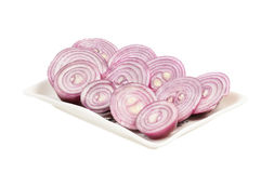 Сhopped red onion Royalty Free Stock Photos