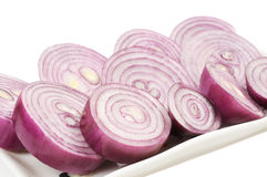 Сhopped red onion Stock Photography