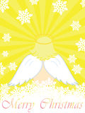 Сhristmas card with angel Royalty Free Stock Images