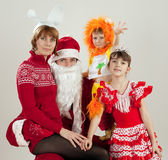 Сhristmas family Royalty Free Stock Photos