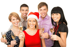 Ð¡olleagues wishing you Merry Christmas Stock Photos