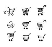 Ð¡ollection of funny carts Royalty Free Stock Photos