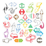 Сolor arrows collection Royalty Free Stock Photo