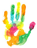 Сolored hand print Stock Photo