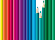 Сolored pencils Royalty Free Stock Photos