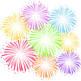 Ð¡olorful fireworks Stock Photo