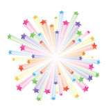 Сolorful stars explode Stock Photography