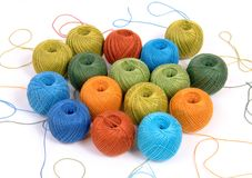 Ð¡olorful wool yarn clews Royalty Free Stock Photo