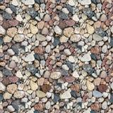 Сoloured gravel seamless texture Royalty Free Stock Image