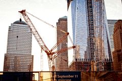 Сonstruction on the World Trade Center royalty free stock image