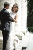 Ð¡ouple in love. Newlywed couple happy in love stock image