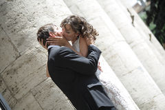 Ð¡ouple in love. Newlywed couple happy in love royalty free stock image