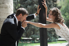 Ð¡ouple in love. Newlywed couple happy in love royalty free stock photos