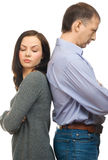 Ð¡ouple quarreling Royalty Free Stock Images