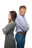 Ð¡ouple quarreling Royalty Free Stock Image