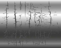Ð¡rack effect metal background Stock Photos