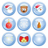 Сristmas buttons Royalty Free Stock Images