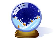 Сristmas-glass-ball Royalty Free Stock Images