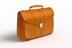 Ð¡rocodile leather briefcase Stock Photos
