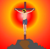 Сrucifix on cross Isus Royalty Free Stock Photos