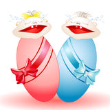 Сrying twins-babies Stock Images