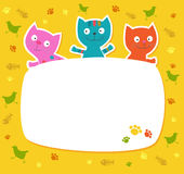 Ð¡ute colored cats. Stock Images