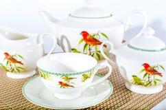 Тea set, herbaciana usługa Fotografia Stock