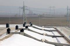 Тhe-Müllgrube für nicht-gefährlichen überschüssigen Abfall bei Yana, Kremikovtzi, Bulgarien Abfall abgeleiteter Brennstoff RDF-B stockbilder