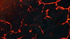 Абстрактная анимация красной лавы ломая вне от отказов на каменной поверхности абстрактная цветастая текстура бесплатная иллюстрация