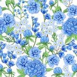 Абстрактная голубая картина цветков весны стоковые изображения rf