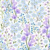 Абстрактная голубая картина цветков весны стоковая фотография
