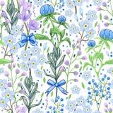 Абстрактная голубая картина цветков весны стоковые фотографии rf