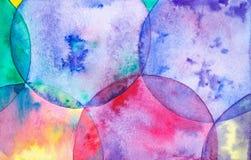 Абстрактная иллюстрация акварели красочных ярких пузырей мыла бесплатная иллюстрация