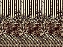 Абстрактная красочная картина печати блока иллюстрация вектора