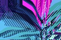 абстрактная предпосылка самомоднейшая Творческие красочные формы и формы геометрическая картина Зеленая, голубая и пурпурная ярка стоковое изображение rf