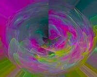 Абстрактная цифровая энергия науки фрактали, цифровая современная фантазия, красивое движение дизайна, свирль, сияющая стоковые фото