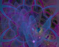 Абстрактная цифровая фантазия фрактали скручиваемости воображения карты орнамента творческая, художественный, элегантность, иллюстрация вектора