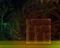Абстрактная цифровая фантазия фрактали шаблона творческая, художественный, элегантность, динамика иллюстрация вектора