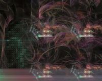 Абстрактная цифровая фантазия фрактали творческая, художественный, элегантность, динамика иллюстрация штока