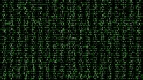 Абстрактный бинарный зеленый цвет кода матрицы иллюстрация вектора