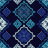 Ethnic boho seamless pattern. Patchwork texture. Weaving. Traditional ornament. Tribal pattern. Folk motif. Can be used for wallpaper, textile, invitation card stock photo